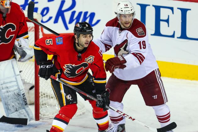Giordano Scores in OT as Flames Drop Coyotes