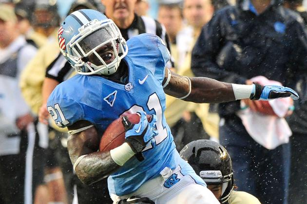 Blue, Morris Fighting for Carries in UNC Backfield