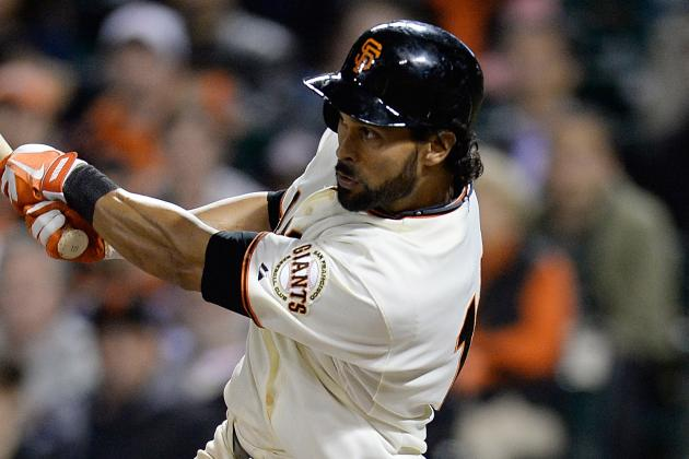 Angel Pagan out of Lineup Today vs. Cubs with Sore Wrist
