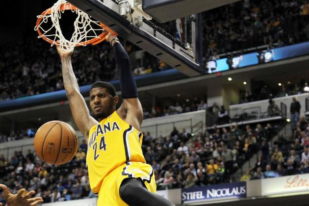 Paul George with a Big Poster Dunk on Jerry Stackhouse (VIDEO)