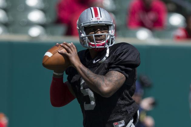 Ohio State Spring Game: Braxton Miller Shows Improved Passing in Exhibition