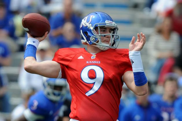 Heaps Now at QB as Kansas Preps for Spring Game