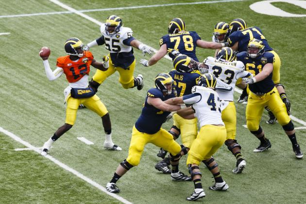 Michigan Spring Game: Exhibition Shows That New Offense Is Work in Progress