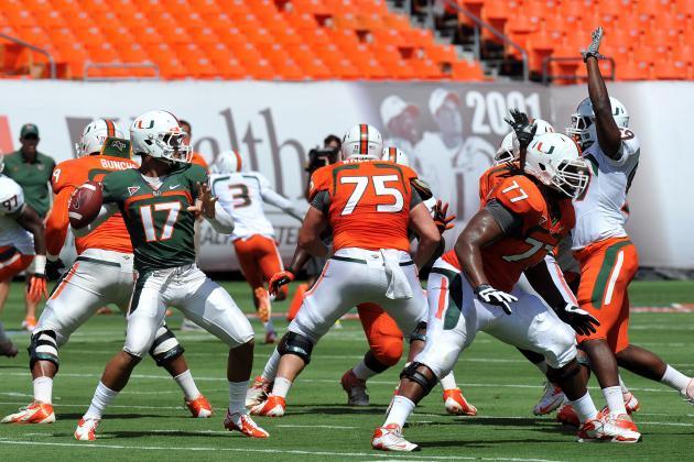 Miami Football Spring Game 2013: Stephen Morris Makes 'Canes True ACC Threat