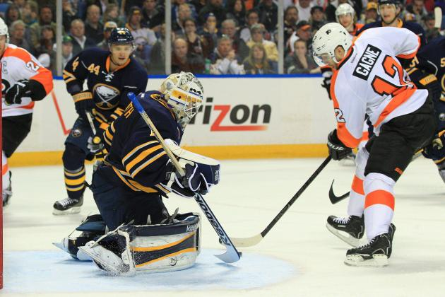 Enroth Collects Shutout as Sabres Blank Flyers