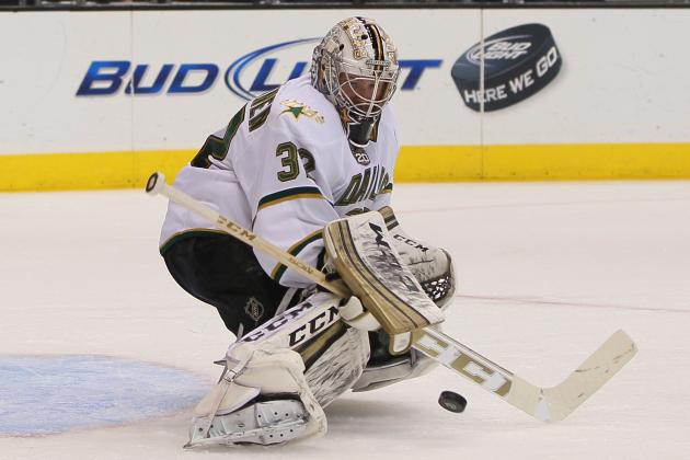 Lehtonen Sits Again with Groin Injury; Stars Eyeing Monday for Possible Return