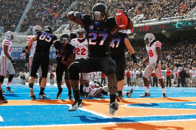 Boise State Football: RBs Steal the Show at 2013 Spring Game