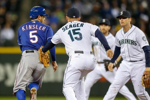 Andrus, Beltre Power Rangers Past Mariners