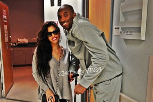 Vanessa Bryant by Kobe's Side