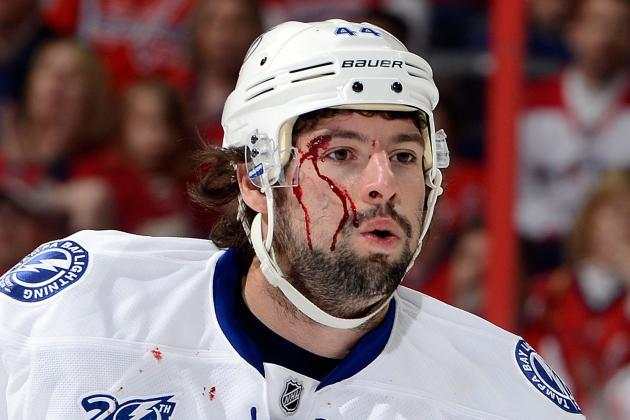 Nate Thompson out Today vs. Sabres After Slap Shot to Face