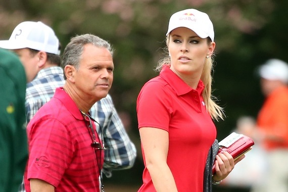 Masters: Tiger Woods and Lindsey Vonn Both Wear Red on Sundays