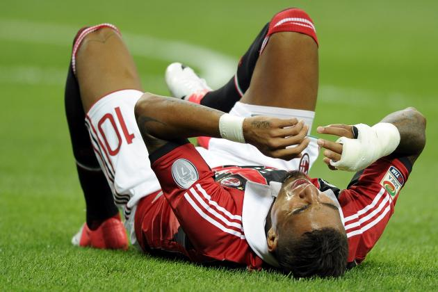 Boateng Leaves in 36' with Injury