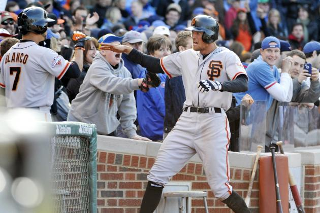 'Full Throttle' Pence Rescues Giants at Wrigley