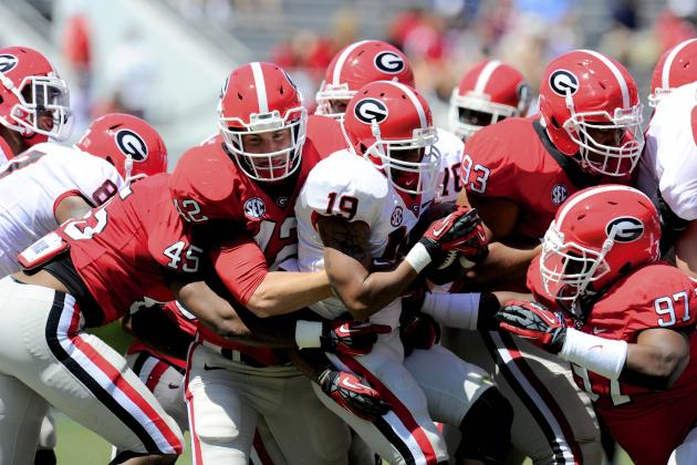 Coming out of Spring, Georgia Coaches Know It's What's Up Front That Counts