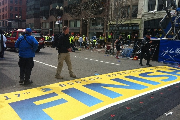 Explosion Reported Near Boston Marathon Finish Line