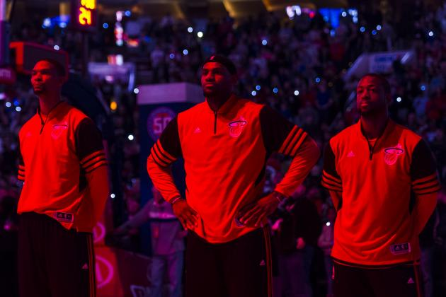 Heat Stars LeBron James, Dwyane Wade and Chris Bosh out Tonight vs. Cavaliers