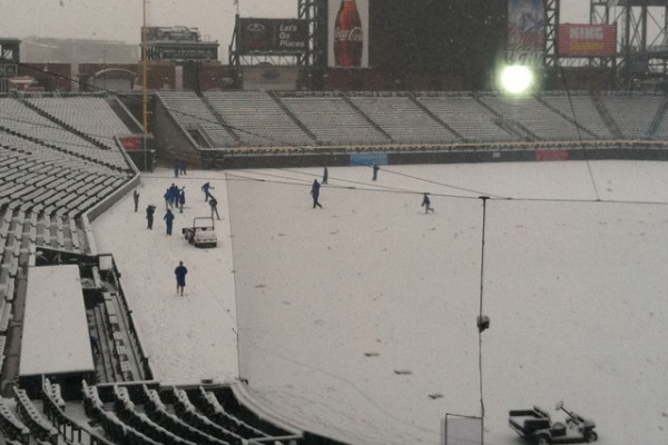 Rockies vs. N.Y. Mets Postponed After Snow in Colorado at Coors Field