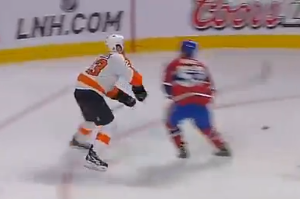 Video- Ryan White Hit on Kent Huskins Tonight