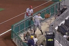 GIF: Pirates Fan with Giant Glove Catches Foul Ball