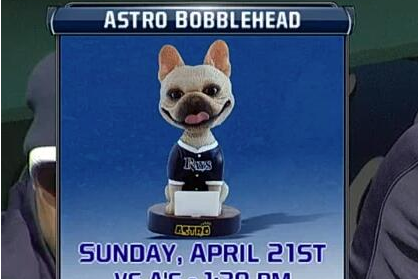 Price's Dog Gets Own Bobblehead Night