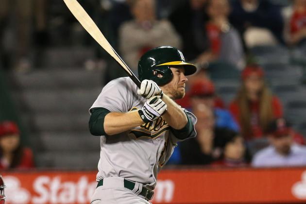 Brandon Moss Placed on Paternity List, OF Peterson Recalled from Sacramento