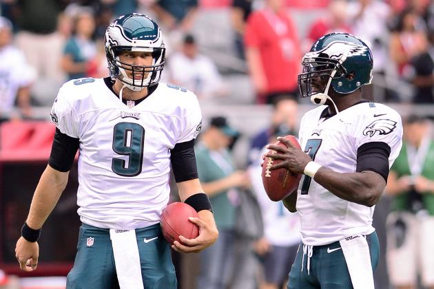 Chip Kelly: Michael Vick, Nick Foles 'Even' at QB