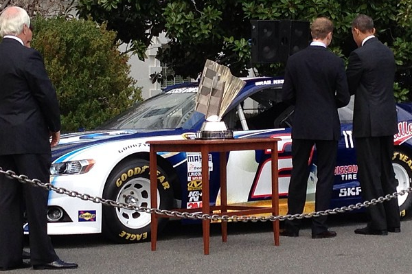 Instagram: Keselowski Showing President Obama Car