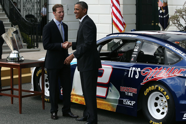 Barack Obama Honors Brad Keselowski, Makes Dig at Jimmie Johnson