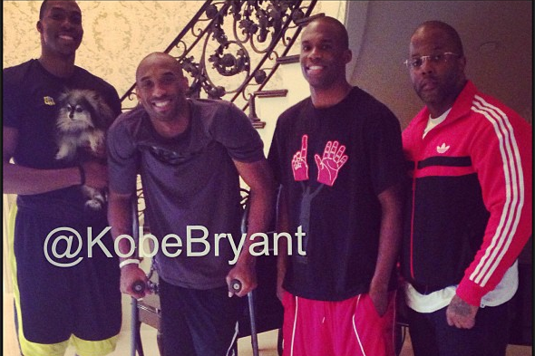 Dwight Howard Pays Mamba a House Call, Meets Kobe's Dog Gucci