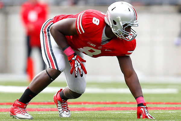 Ohio State Football: Noah Spence Stands Out As Spring Practice Star