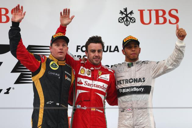 Top Five Stats from the Chinese Grand Prix