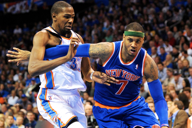 Kevin Durant Concedes NBA Scoring Title to Carmelo Anthony
