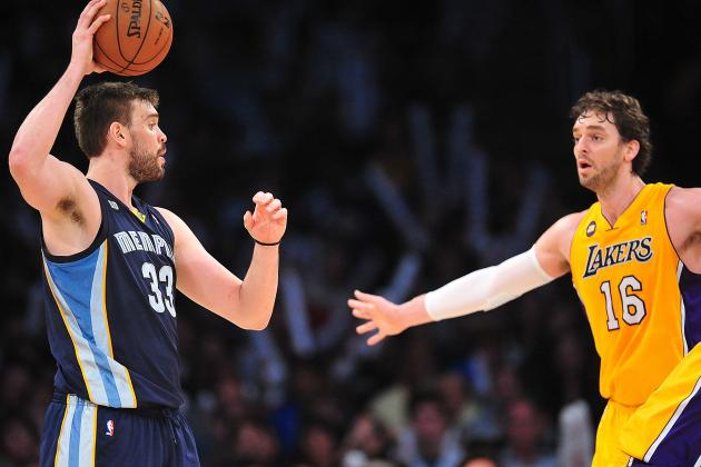 With Grizzlies Hosting Jazz, Pau Gasol Calls Out to Brother Marc