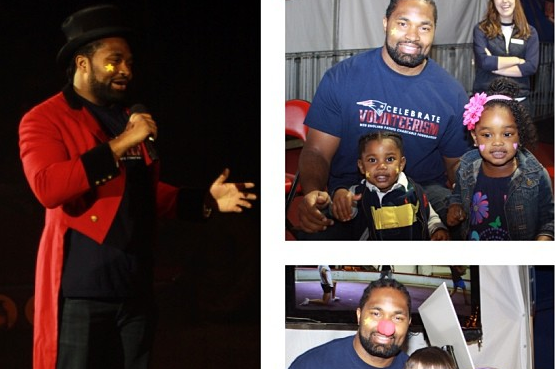 Jerod Mayo as Honorary Ringmaster for Benefit