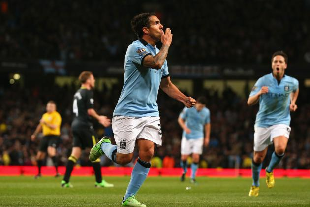 Carlos Tevez's Late Goal Takes Manchester City Past Wigan Athletic