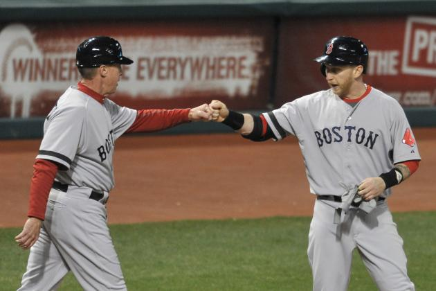 Red Sox Score Three in 1st, Win Fifth in Row