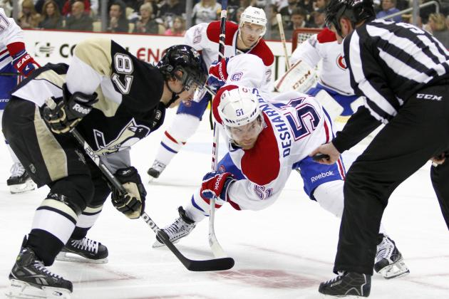 Morrow Scores 2 Goals Again as Pens Beat Habs