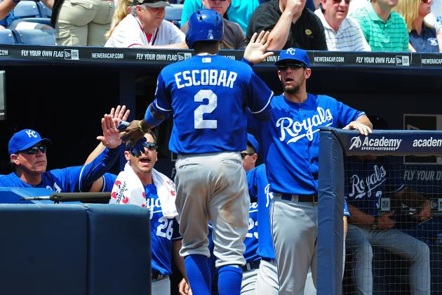 Escobar Avoids Pickoff Before Scoring Royals' Only Run