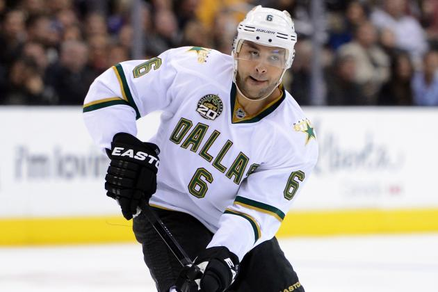 Trevor Daley in Tonight as Stars Take on Canucks