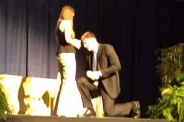 Notre Dame Power Forward Jack Cooley Proposes to Girlfriend at Senior Banquet