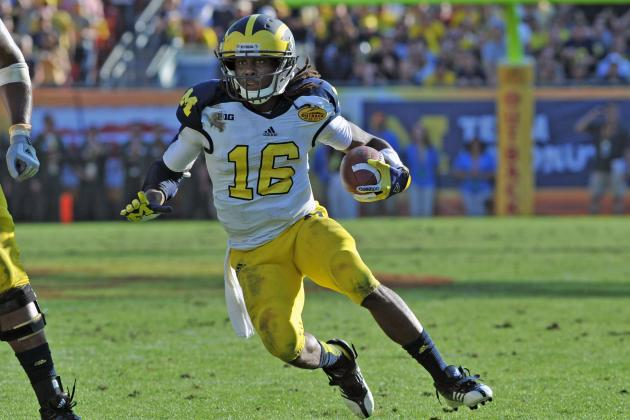 Denard Robinson Scouting Report: NFL Outlook for Michigan RB/WR