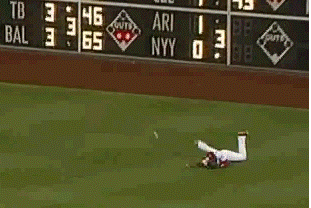 GIF: John Mayberry Jr. Has Outfield Issues