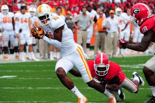 2013 NFL Draft: Tennessee WR Justin Hunter May Be First Pass-Catcher Picked