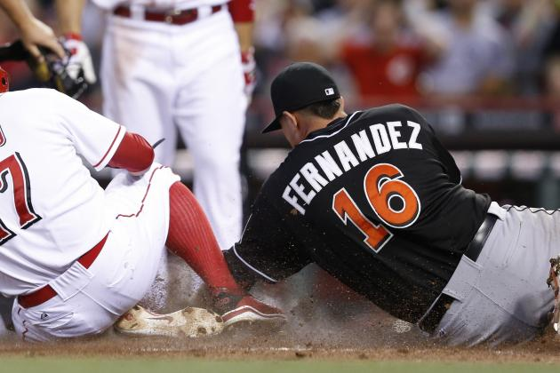 Reds rough up Fernandez; Stanton rusty in blowout loss
