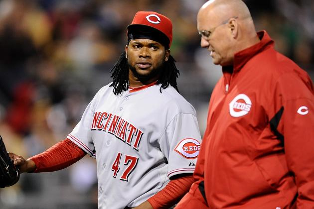 No Timetable for Johnny Cueto to Resume Throwing