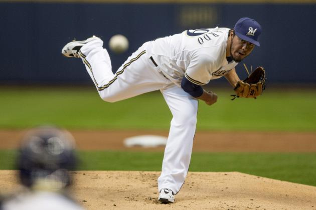 Brewers 7, Giants 2: Focused Yovani Gallardo Leads Brewers to Sweep