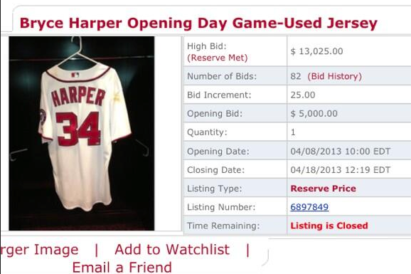 Bryce Harper's Opening Day Jersey Sold for $13,000 and He's Pissed About It