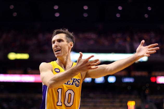 How the L.A. Lakers Hide a Hobbled Steve Nash Against Tony Parker and Co.