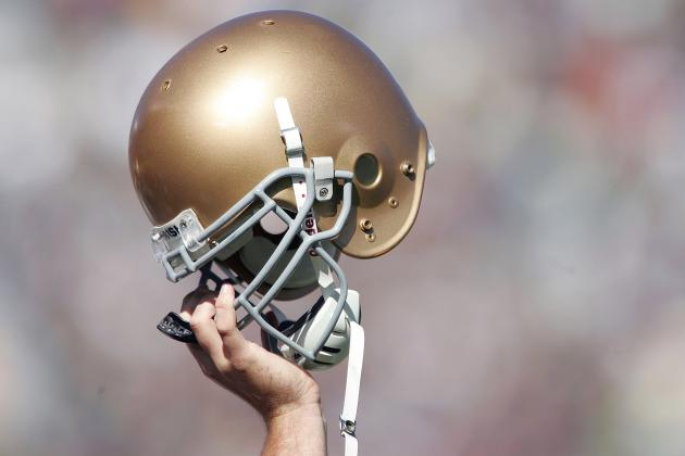 Notre Dame to Honor Boston with Spring Game Helmet Decal