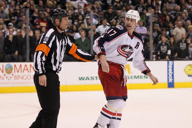 Dubinsky Gets Match Penalty During Post Game Brawl